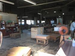 オーダー家具工場屋内